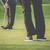 golf green sceen   golfer putting near the hole short putt stock photo © lightpoet