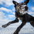 hilarious black dog jumping for joy over a snowy field stock photo © lightpoet