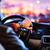 driving a car at night  man driving his modern car at night stock photo © lightpoet