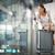 fiatal · női · repülőtér · üzlet · utazás · repülőgép - stock fotó © lightpoet