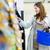 belle · jeune · femme · Shopping · épicerie · couleur · image - photo stock © lightpoet