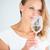 genç · kadın · cam · şarap · içmek · yudum - stok fotoğraf © lightpoet