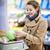 mulher · fresco · repolho · cebolas · jovem · bela · mulher - foto stock © lightpoet