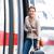 かなり · 若い女性 · 搭乗 · 列車 · 市 · 都市 - ストックフォト © lightpoet