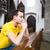 bonito · moço · oração · igreja · cara · rezar - foto stock © lightpoet
