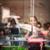 mujer · bonita · cena · noche · aire · libre · restaurante · comer - foto stock © lightpoet
