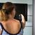 jonge · vrouw · home · kijken · tv · vrouw · vrouwen - stockfoto © lightpoet