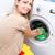 ev · işi · genç · kadın · çamaşırhane · renkli · çamaşır · makinesi - stok fotoğraf © lightpoet