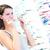 женщину · зрение · испытание · новых · очки · оптик - Сток-фото © lightpoet