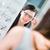 nő · látás · teszt · új · szemüveg · optikus - stock fotó © lightpoet