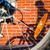 Schatten · Biker · Straße · Reiten · Fahrrad · städtischen - stock foto © lightpoet