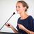 かなり · 小さな · ビジネス女性 · プレゼンテーション · 浅い - ストックフォト © lightpoet