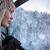 mooie · jonge · vrouw · winter · landschap · cabine · hoog - stockfoto © lightpoet