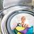 ev · işi · genç · kadın · çamaşırhane · bekleme · yıkama · program - stok fotoğraf © lightpoet