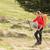 güzel · genç · kadın · yürüyüş · dağlar · hareket · bulanık - stok fotoğraf © lightpoet