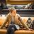 mooie · jonge · vrouw · kiezen · lamp · appartement - stockfoto © lightpoet