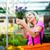 femme · achat · fleurs · fleur · magasin · heureux - photo stock © lightpoet