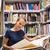 довольно · изучения · старые · книги · женщину · книга - Сток-фото © lightpoet
