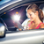 feminino · motorista · volante · mulher · condução - foto stock © lightpoet