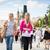 Two female tourists walking along the Charles Bridge stock photo © lightpoet