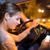 bestuurder · telefoon · vergadering · auto · glimlachend · knap - stockfoto © lightpoet