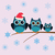 aves · familia · sombrero · ilustración · alambre - foto stock © lilac