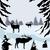 rénszarvas · karácsony · sziluettek · izolált · fehér · háttér - stock fotó © lilac