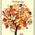 kahverengi · baykuşlar · ağaç · aile · dizayn · çift - stok fotoğraf © lilac