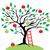 apple · tree · maçã · branco · ilustração · natureza · fundo - foto stock © lilac
