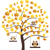 baykuşlar · ağaç · komik · karikatür · örnek · vektör - stok fotoğraf © lilac