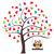 baykuş · vektör · ağaç · kalpler · kalp · arka · plan - stok fotoğraf © lilac