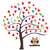 совы · вектора · дерево · сердцах · сердце · фон - Сток-фото © lilac