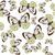 bağbozumu · çerçeve · kelebekler · altın · doku · soyut - stok fotoğraf © lilac