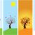 establecer · banners · hojas · verdes · flores · negocios · flor - foto stock © lilac