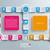 verdubbelen · groot · gekleurd · banners · grijs · eps - stockfoto © limbi007