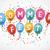 renkli · balonlar · ayarlamak · yalıtılmış · beyaz · eps - stok fotoğraf © limbi007