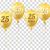25 · évek · születésnap · arany · cég · ünneplés - stock fotó © limbi007