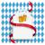 munich oktoberfest white round long emblem stock photo © limbi007