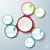 infografika · terv · színes · lánc · fehér · körök - stock fotó © limbi007