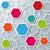 drie · gekleurd · honingraat · structuur · grijs - stockfoto © limbi007