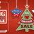 klasszikus · ár · matricák · karácsonyfa · csillagok · karácsony - stock fotó © limbi007