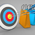 target 3 arrows colorful shopping bags stock photo © limbi007