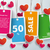 four colored price stickers hearts stock photo © limbi007