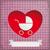 vintage baby buggy hole hearts stock photo © limbi007