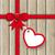 szív · vörös · szalag · valentin · nap · kártya · pillangó · absztrakt - stock fotó © limbi007