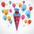 キャンディ · コーン · 風船 · グレー · eps · 10 - ストックフォト © limbi007