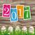 easter eggs grass worn wood price stickers 2017 stock photo © limbi007