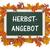 blackboard autumn foliage herbstangebot stock photo © limbi007