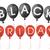 siyah · beyaz · balonlar · kapak · metin · beyaz · eps - stok fotoğraf © limbi007