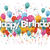 confetti balloons happy birthday stock photo © limbi007